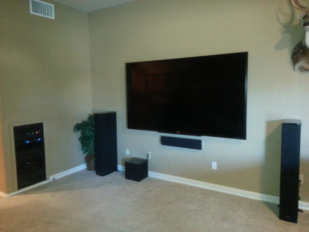 90 inch Theater Room TV retrofit