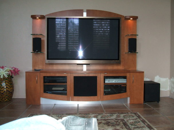 Audio Video install with Custom Cabinet
