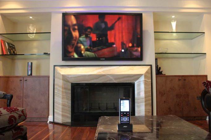 Fireplace Mounted TV
